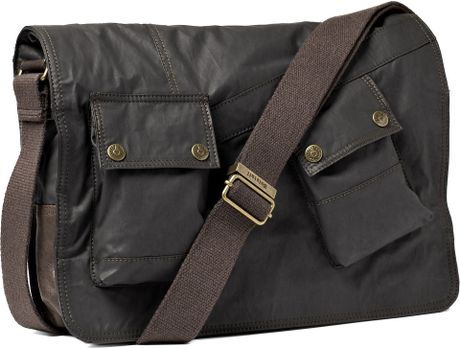 Waxed Cotton Shoulder Bag 51