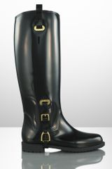 Ralph Lauren Collection Odette Rubber Rain Boot - Lyst
