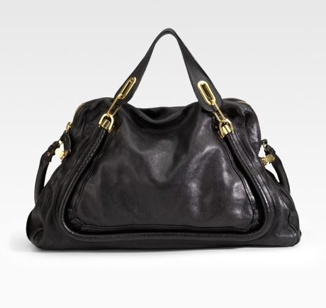 Chloé Paraty Large Tote in Black - Lyst