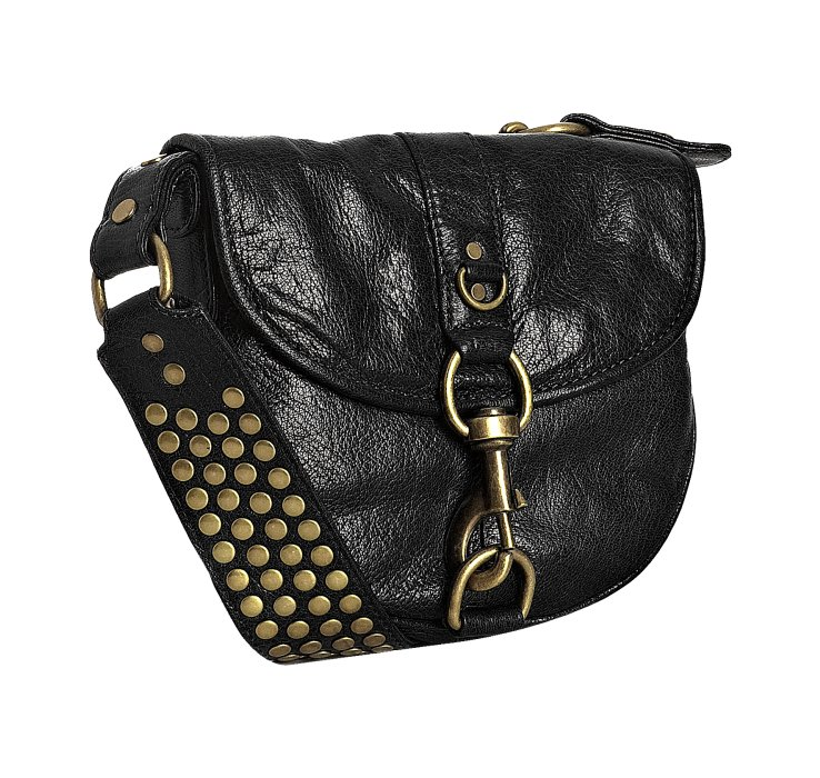72b5c46fc0 Rebecca Minkoff Lust Studded Leather Crossbody Bag in Black - Lyst