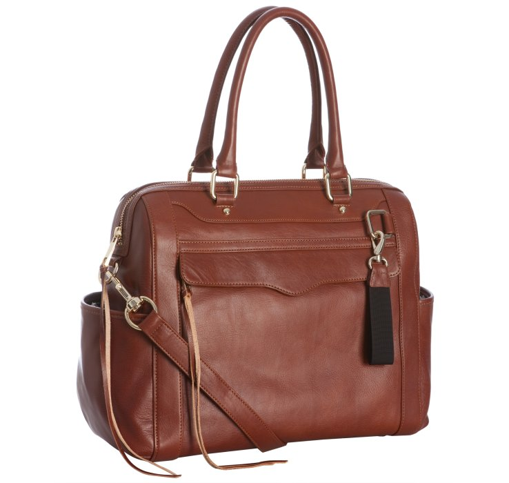 rebecca minkoff auburn leather knocked up diaper bag with changing mat in brown lyst. Black Bedroom Furniture Sets. Home Design Ideas