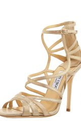 Jimmy Choo Strappy Back-zip Sandal - Lyst