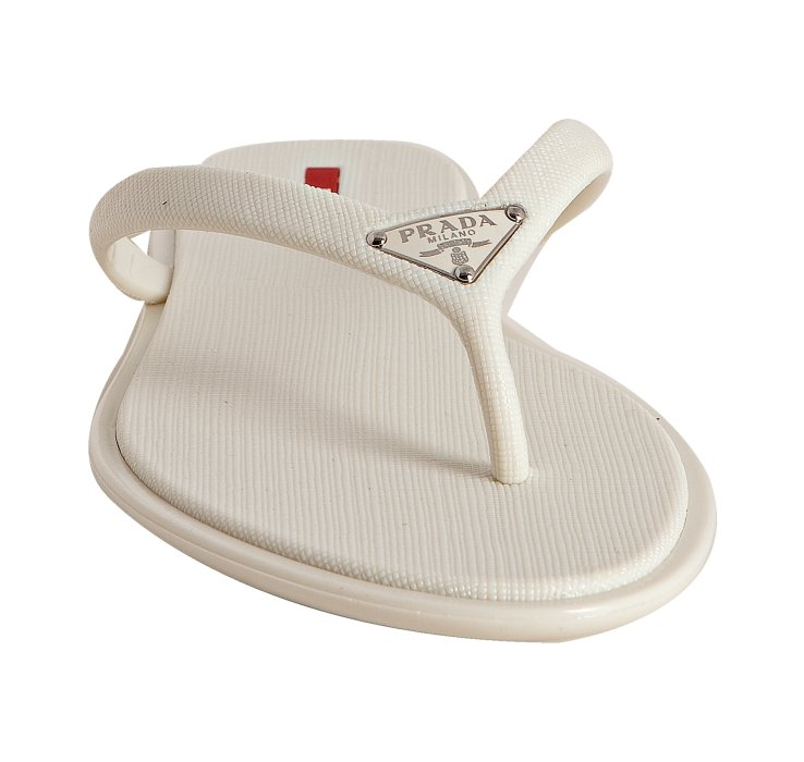 Lyst - Prada Sport White Crosshatch Rubber Flip Flops With -1760