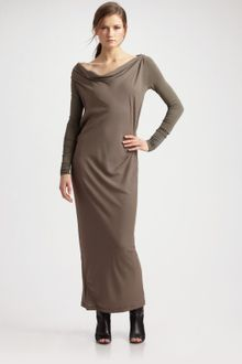 Donna Karan New York Double-layer Maxi Dress - Lyst