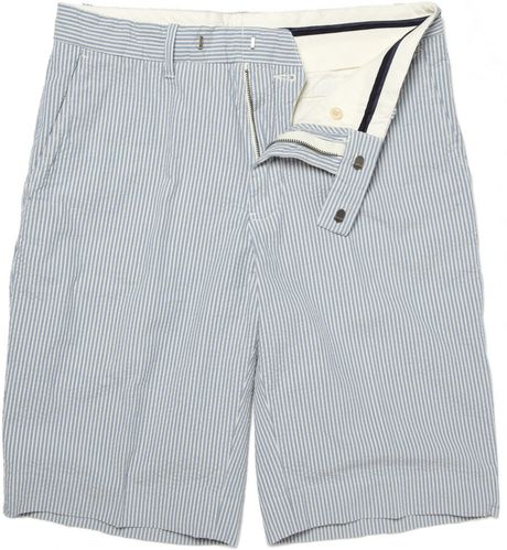 Polo Ralph Lauren Bradbury Seersucker Cotton Shorts in Blue for Men - Lyst