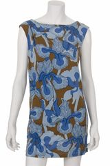 Tibi Iris Ikat Shift Dress in Denim Multi - Lyst