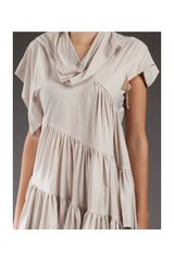 Bernhard Willhelm Frill Detail Tshirt in Beige - Lyst
