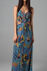 Zimmermann Labyrinth Twist Maxi Dress in Blue - Lyst
