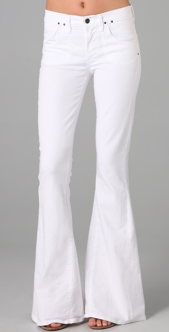 Lyst Citizens Of Humanity Angie Super Flare Jeans In White