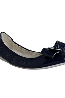 Prada Sport Royal Blue Patent Bow Detail Flats - Lyst