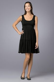DKNY Sleeveless System Chiffon Dress - Lyst