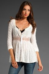 Free People Lace Tunic - Lyst