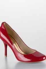Michael By Michael Kors Presley Patent Leather Pumps in Red (Red Patent) - Lyst