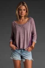 Free People Cropped French Terry Pullover - Lyst