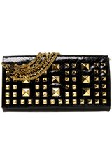 Eastland Studded Python Bag in Black - Lyst
