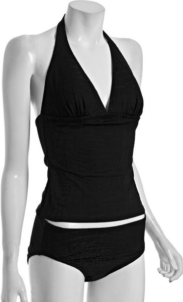 Gottex Essentials Halter Tankini Swimsuit In Black Lyst