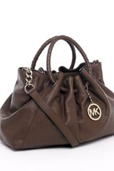 Michael Kors Michael Addison Large Shoulder Tote Chocolate - Lyst