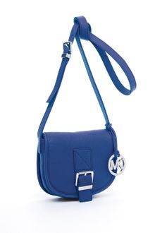 Michael Kors Michael Medium Saddle Bag Messenger Cobalt - Lyst