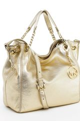 Michael Kors Michael Jet Set Medium Tote Pale Gold in Gold (jet) - Lyst