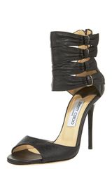 Jimmy Choo Ankle-cuff Leather Sandal - Lyst