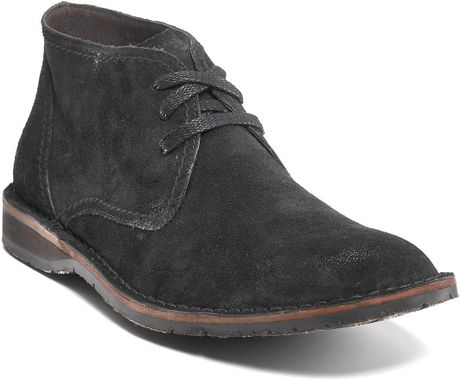 John Varvatos Star Usa Hipster Chukka Boots In Black For