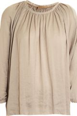 Lanvin Off-the-shoulder Blouse - Lyst