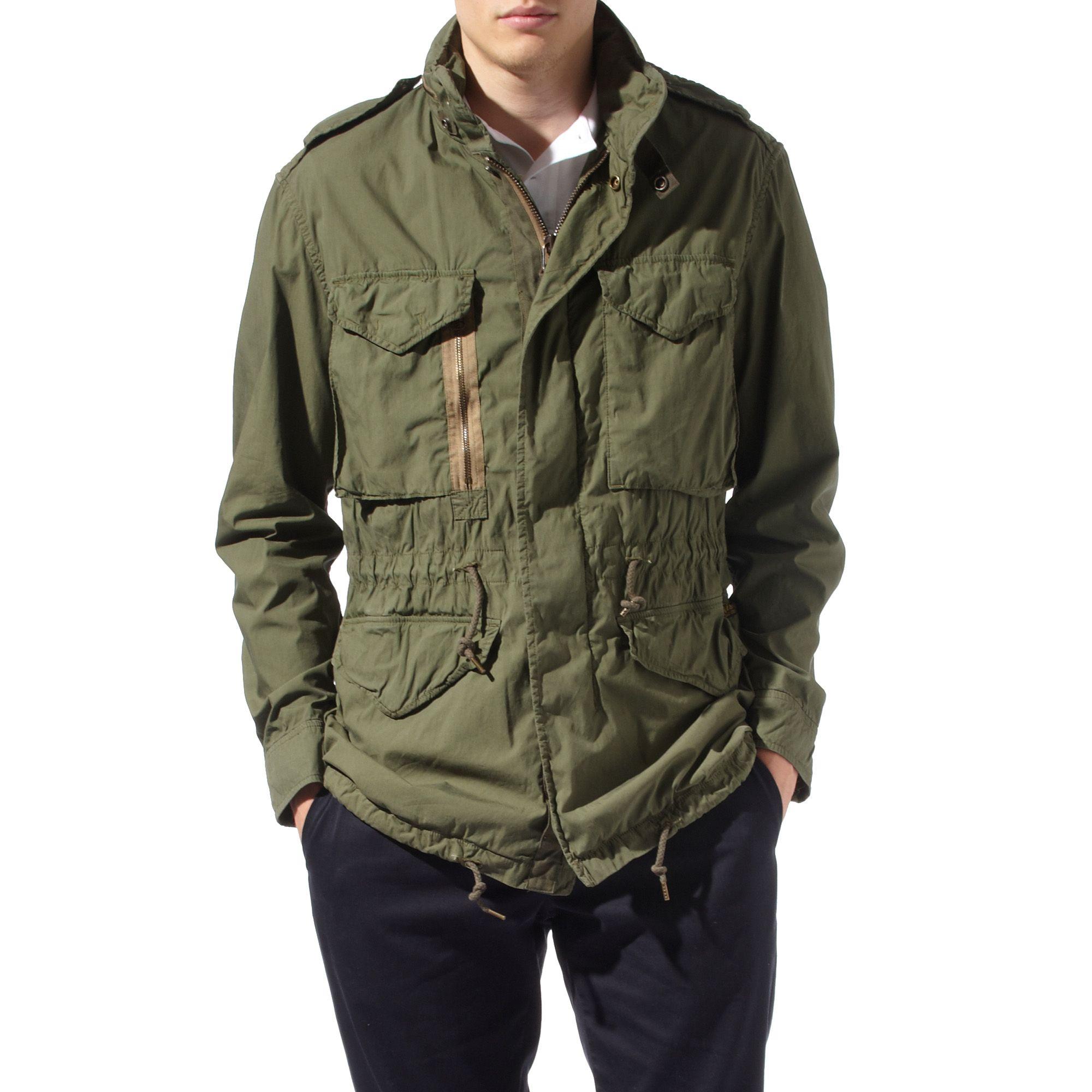 Ralph lauren m65 combat jacket in green for men olive lyst