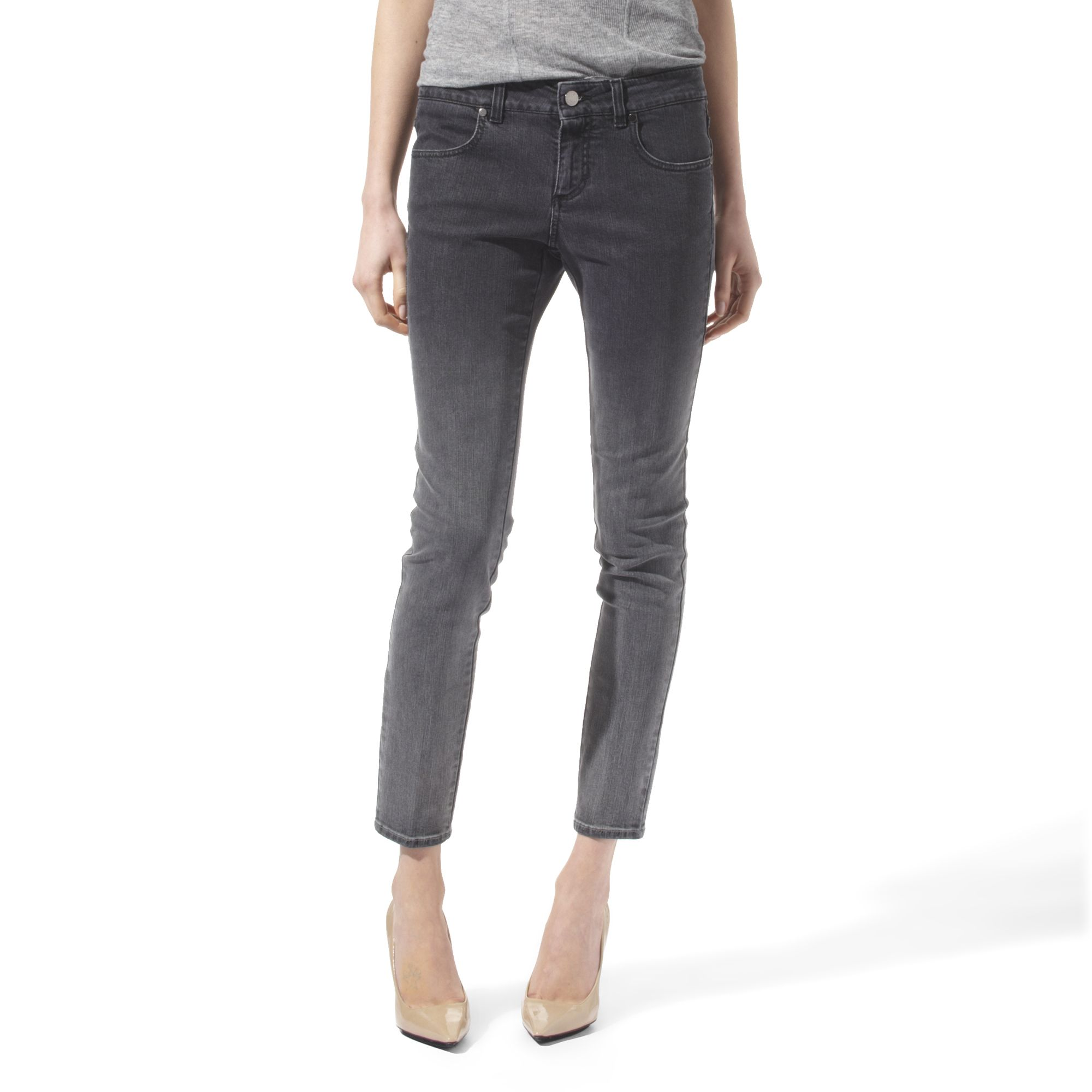 stella mccartney skinny ankle grazer grey degrade jeans in gray grey lyst. Black Bedroom Furniture Sets. Home Design Ideas