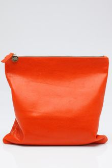 Clare Vivier Fold-over Clutch in Orange - Lyst