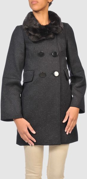 French Connection Coat in Gray (black) - Lyst