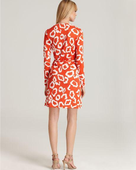 Diane Von Furstenberg Terrazzo Wrap Dress In Animal