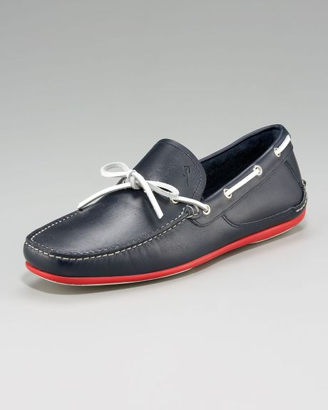 Ferragamo Mango Four Boat Shoe in Blue for Men