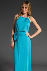 Michael Stars Halter Maxi Dress - Lyst