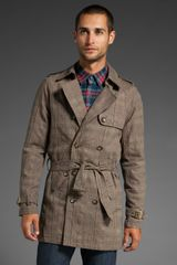 Shades Of Grey By Micah Cohen Trench Coat - Lyst