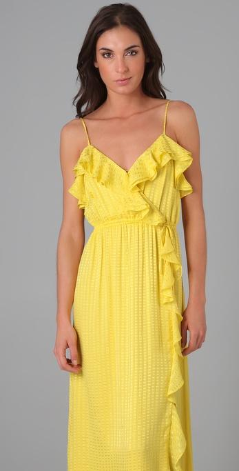 Lyst Milly Stephanie Maxi Dress In Yellow