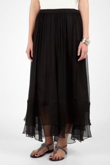 Elizabeth And James Black Layered Maxi Skirt - Lyst