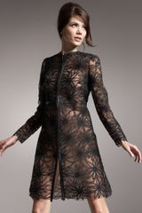 Valentino Crinoline Embroidered Lace Coat - Lyst