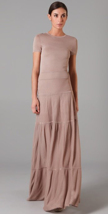A.l.c. Knit Maxi Dress in Natural | Lyst