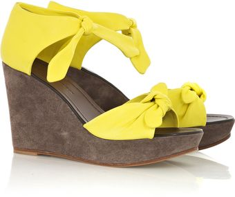 Sigerson Morrison Leather Wedge Sandals - Lyst