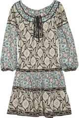 Anna Sui Vine-print Silk-blend Tunic Dress - Lyst