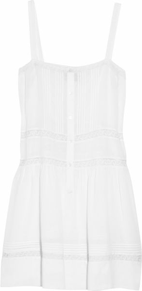 By Malene Birger Haljjo Lace-trimmed Dress - Lyst