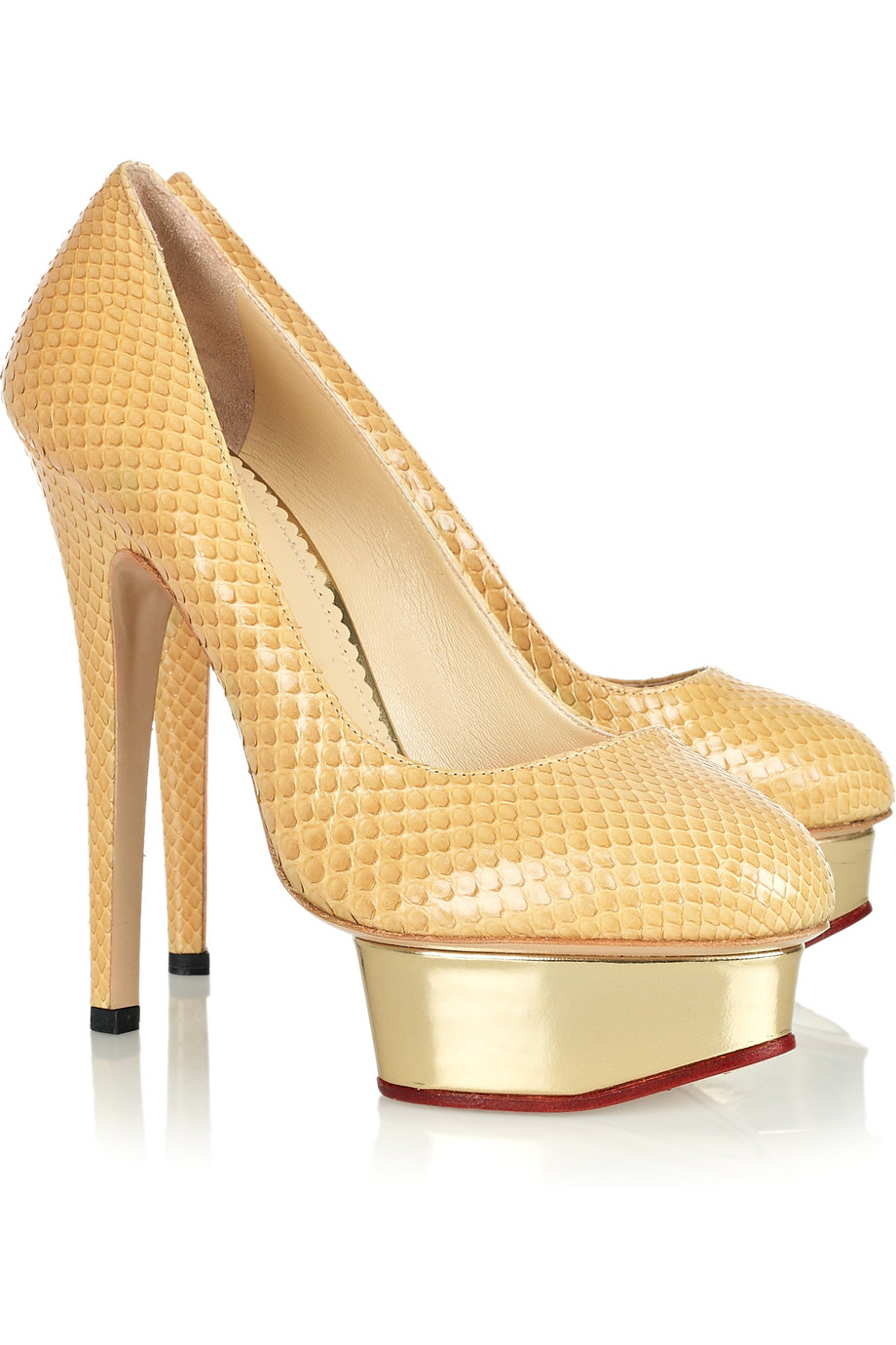 Clearance Many Kinds Of Cheap Sale Ebay Pre-owned - SNAKESKIN PUMPS Charlotte Olympia Recommend For Sale CFrPOK2