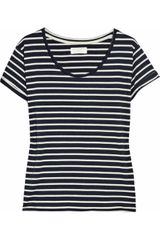 Chinti And Parker Striped Organic Cotton T-shirt - Lyst