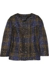 J.Crew Dollop Sequined Wool-blend Jacket - Lyst