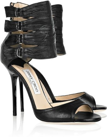 Jimmy Choo Opera Ankle-strap Leather Sandals - Lyst