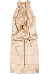 Philosophy di Alberta Ferretti Silk-satin Halterneck Dress - Lyst