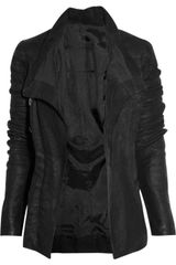 Rick Owens Blister Distressed-leather Jacket - Lyst