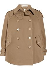 Stella McCartney Double-breasted Cotton-twill Swing Coat - Lyst