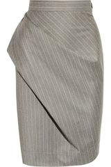 Vivienne Westwood Anglomania Philosophy Pinstripe Wool Pencil Skirt - Lyst