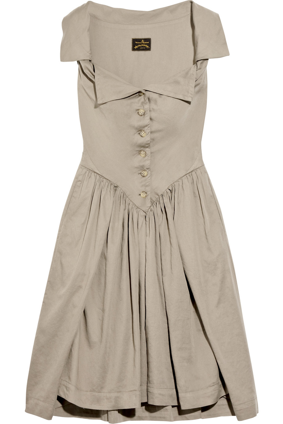 4a3e817f3d47 Lyst - Vivienne Westwood Anglomania Monday Cotton Dress in Brown